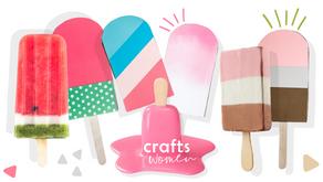 Quick & Easy Craft Ideas for Kids: DIY Papercut Ice Cream Bars
