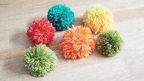 DIY Yarn Pom Poms: How to Make Pom Poms with Cardboard and Yarn