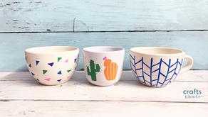 DIY Acrylic Painted Coffee Mugs - That Won't Wash Away!