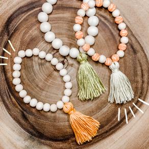 20-Minute DIY: How to Make Wooden Tassel Bracelets