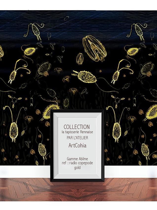 Atelier Artcohia-tapisserie-rennaise-ref-radio-copepode-gold