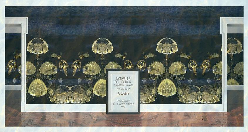 papiers-peints-ref bal des meduses-createur & éditeur Atelier ArtCohia