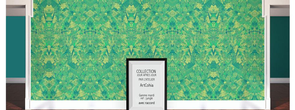 "papier-peint-ArtCohia-ref-jungle-gamme ""Mardi"""