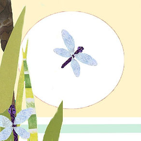 Among the cattails dragonflies rest unti