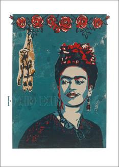 Frida with monkey