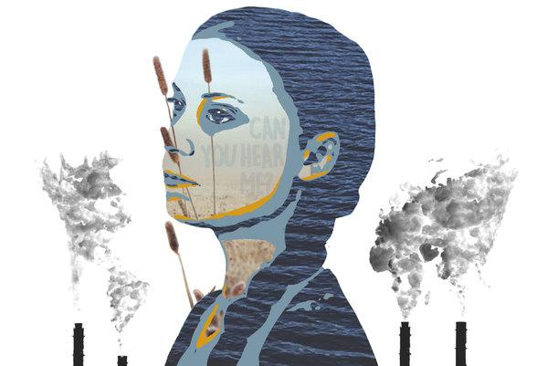 Illustration of Greta Thunberg