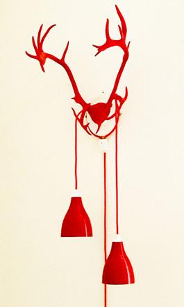 Reindeerhorn lamp