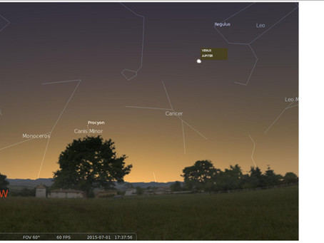 Celestial Royalty: Jupiter-Venus Conjunction