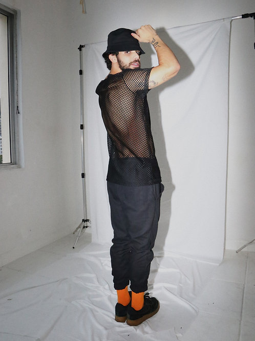 Camiseta preta transparente