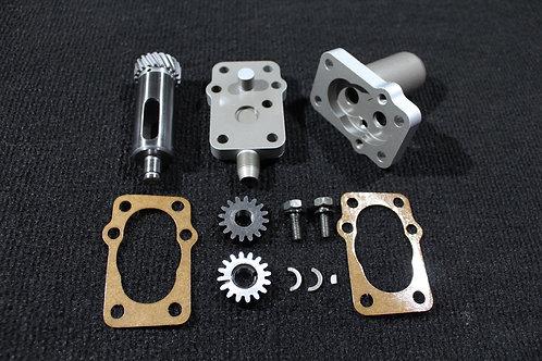 Replica Motortechnic Mfg. UL / ULH Oil Scavenger Oil Pump silver look