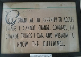 First AA Serenity Prayer used in AUS-pag