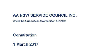 AA NSW Service Council Inc Constitution