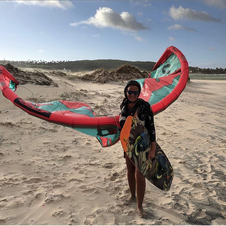 Leçon de kitesurf