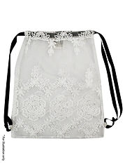 Romantic lace Backpack with strings