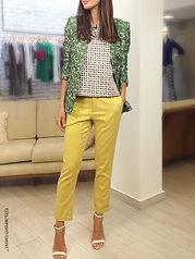 מכנסיים קלאסיים בצבעים עזים