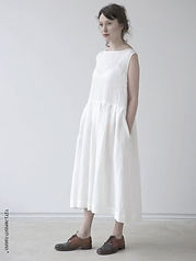 שמלת חתך ללא שרוולים