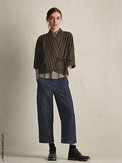 מכנסיים רחבים עם גומי בגב