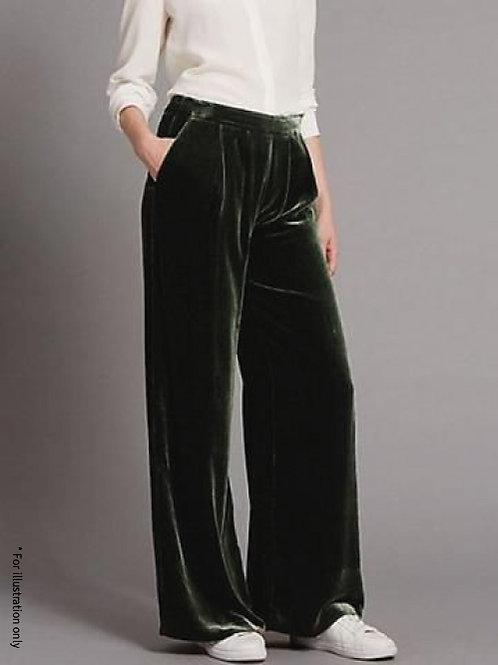 Straight leg velvet pants