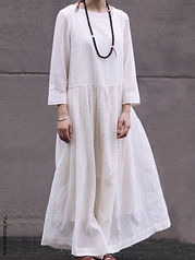 Airy tiered dress
