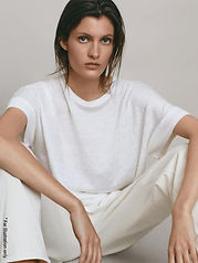 Wide T shirt in casual look