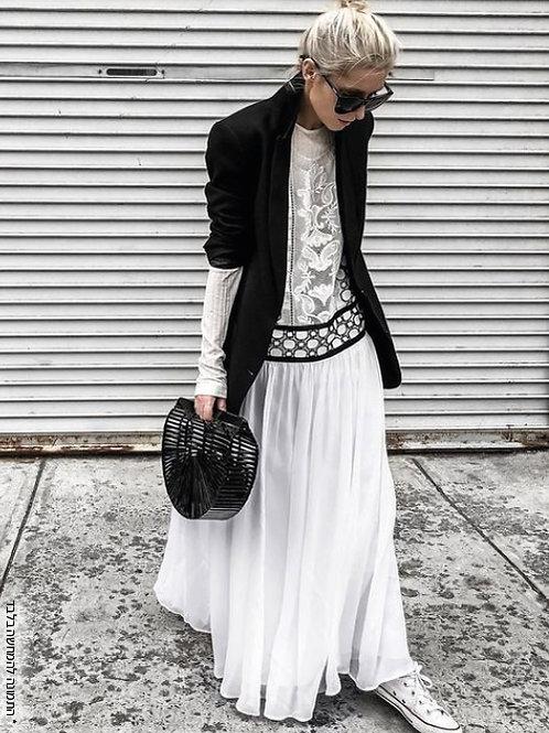 חצאית כיווצים אביבית
