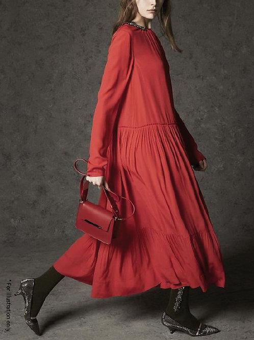 winter tiered dress