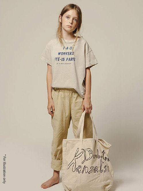 Elastic band pants in loose fit