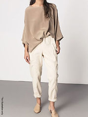 Elastic Band pants in soft look