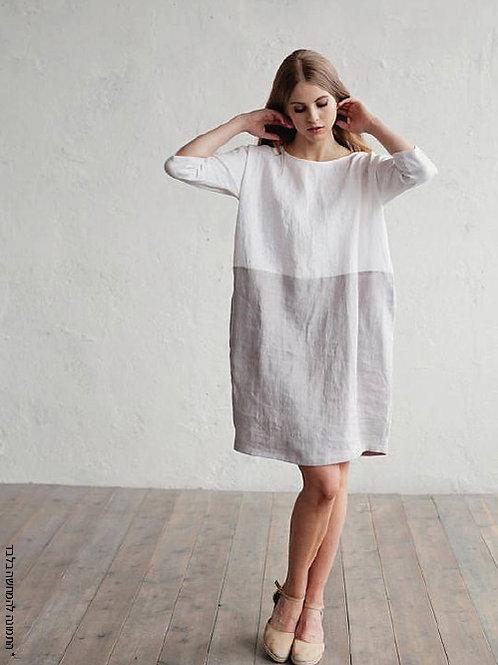 שמלה רחבה משולבת