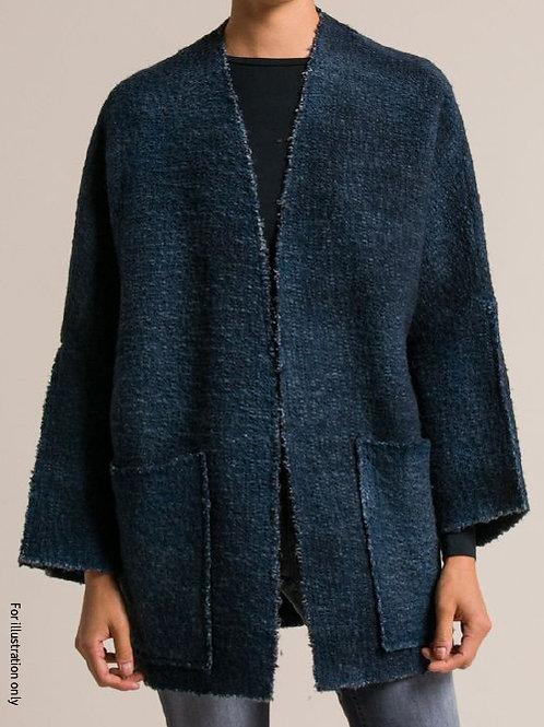 Kimono jacket in washed indigo