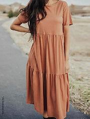 Summer tiered dress