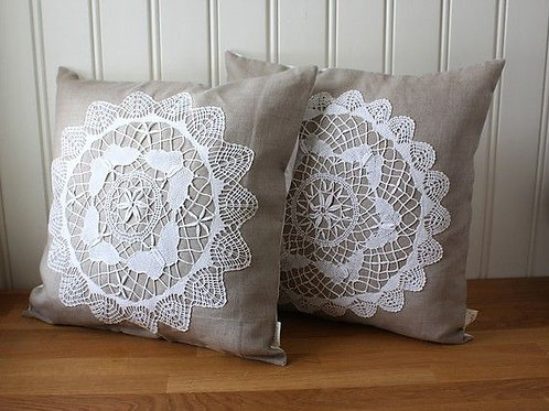 Cushions with Lace