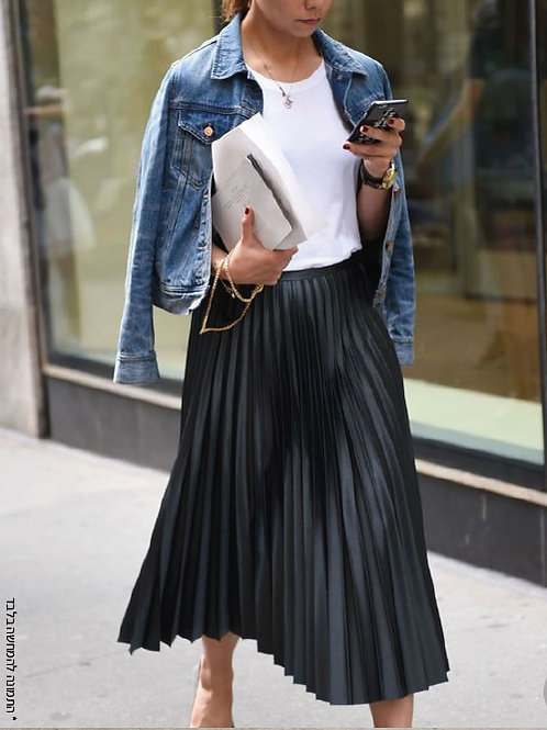 חצאית פליסה בקפלי שמש