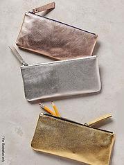 Metallic Purse with zipper