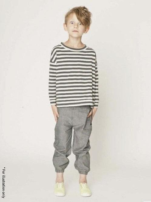 Pants with elastic hems