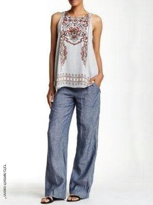 מכנסיים ישרים עם גומי בגב