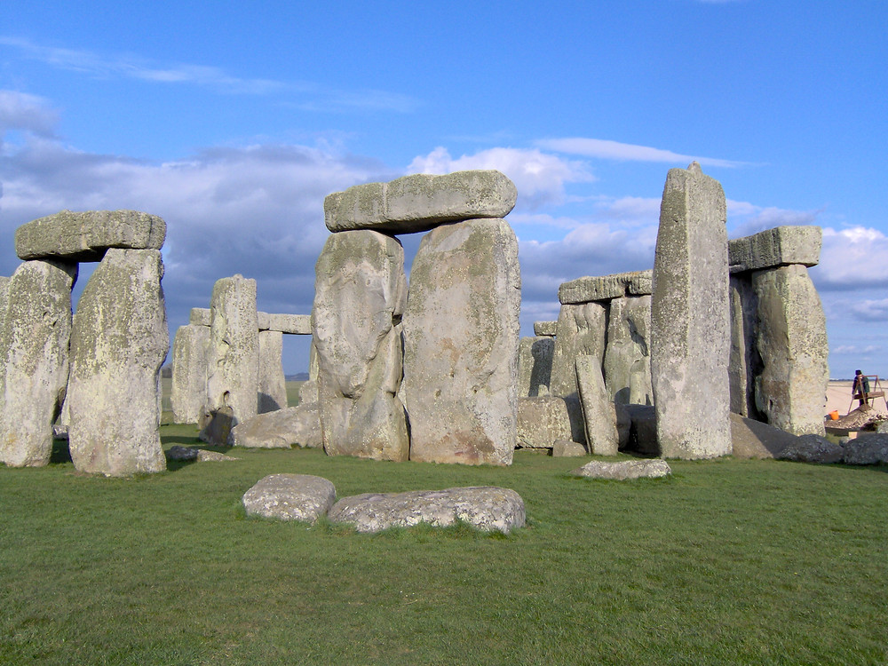 Ash scattering at Stonehenge World Heritage Site in England
