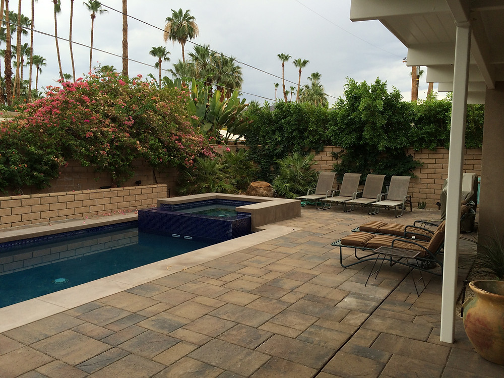 An Up-scale Paver Pool Deck (Palm Springs, my project)