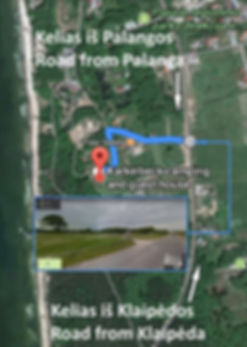 Žemėlapis atvykimas kaip mus rasti