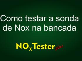 Teste da Sonda de NOx na bancada