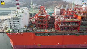 Coral FLNG vessel on track for year-end yard departure