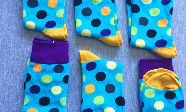 Pale Blue Sock Collection of 6