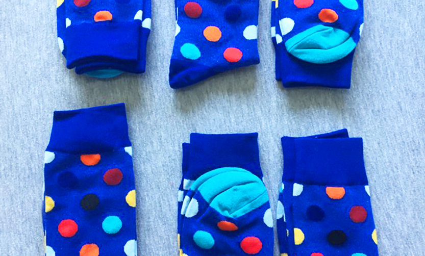Blue Socks Collection Pack of 6