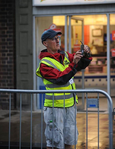 Barnsley town centre races marshal