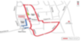 Barnsley town centre races circuit map