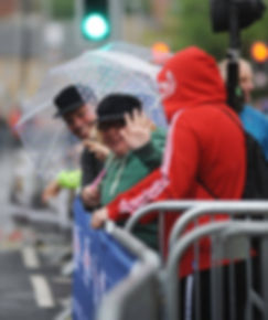 Barnsley town centre races spectators