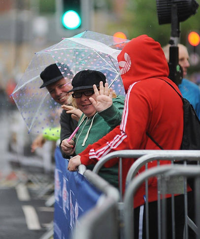 Barnsley town centre races spectators