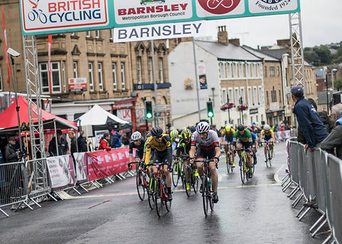 Barnsley Town Centre Races finish line