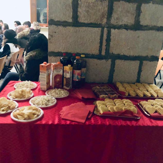 il buffet per gli ospiti