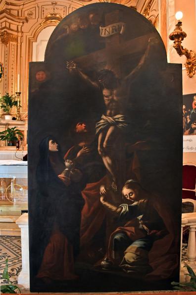 """""""La crocifissione"""" dopo il restauro"""